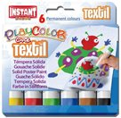 Playcolor - tuhé temperové barvy na textil 6 kusů