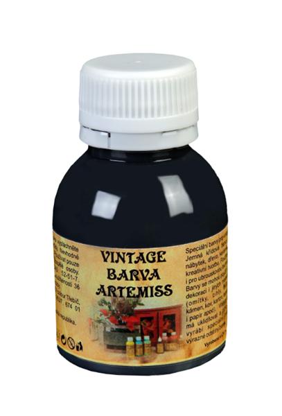 Křídová VINTAGE barva - černá, 110 g
