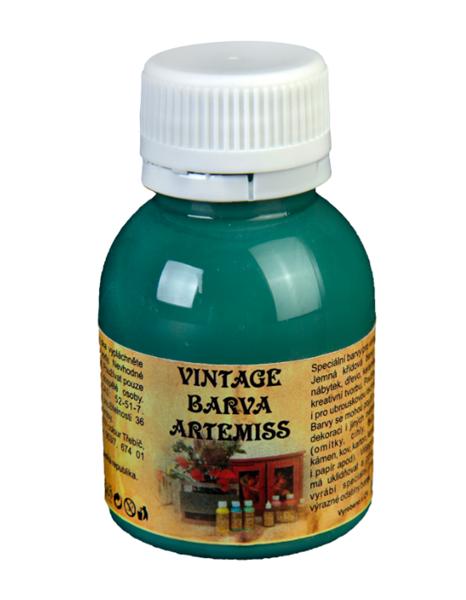 Křídová VINTAGE barva - tmavá zelená, 110 g