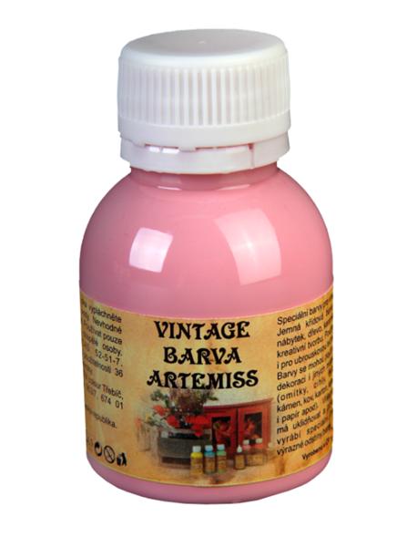 Křídová VINTAGE barva - růžová, 110 g