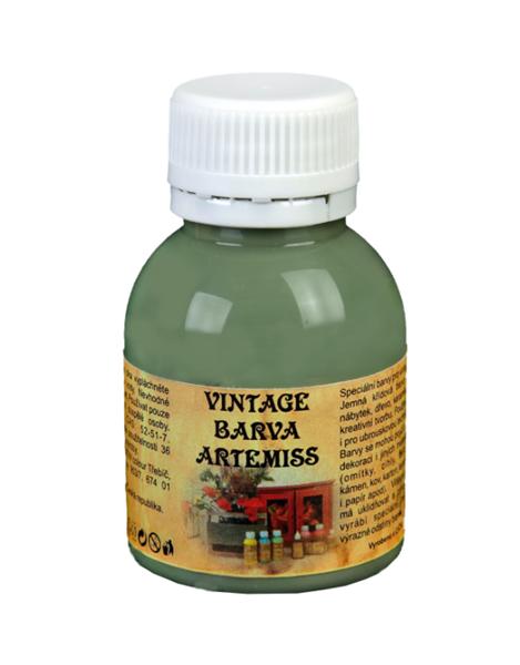 Křídová VINTAGE barva - světlá olivová, 110 g