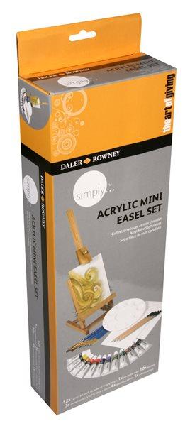 Startovací set Daler Rowney - stojan + akrylové barvy 12 x 12 ml