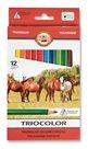 Koh-i-noor pastelky 3142 TRIOCOLOR  - 12 barev