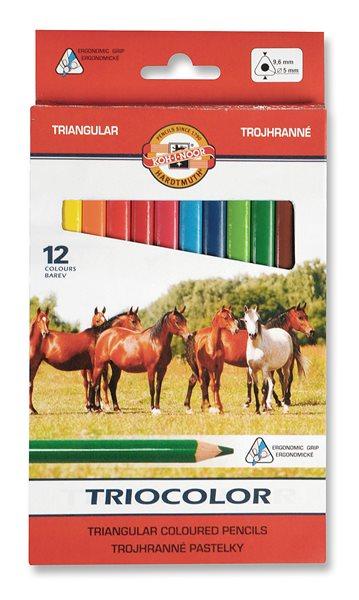 Koh-i-noor pastelky TRIOCOLOR 3142, 12 barev