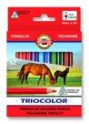Koh-i-noor pastelky TRIOCOLOR 3112, 12 barev