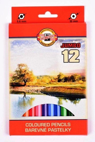 Koh-i-noor pastelky 3382 JUMBO Krajina - sada 12 barev