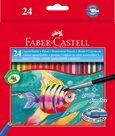 Pastelky Faber-Castell Akvarelové pap.krabička 24ks + štěteček