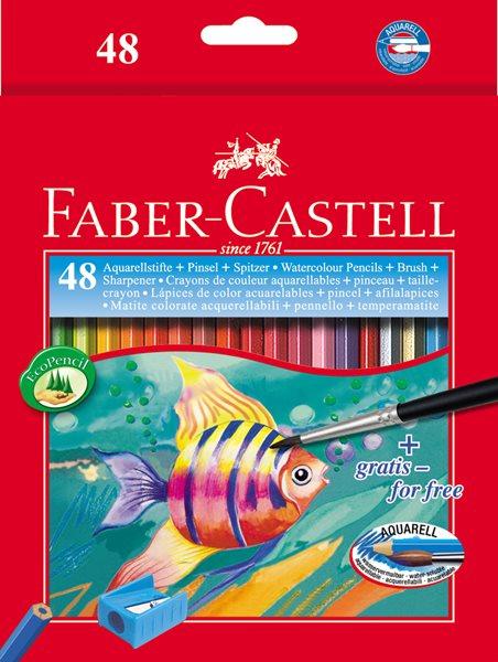 Pastelky Faber-Castell Akvarelové pap.krabička 48ks + štěteček