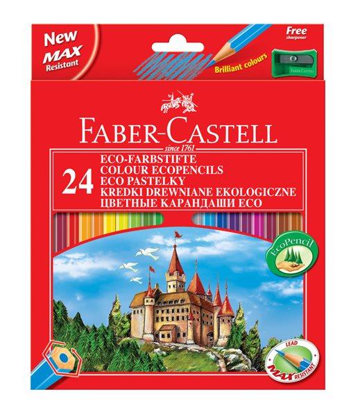 Pastelky Faber-Castell šestihranné, pap.krabička 24ks