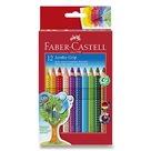 Pastelky Faber-Castell - Jumbo Grip, 12ks + ořezávátko