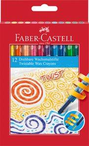 Voskovky Faber-Castell TWIST, 12ks