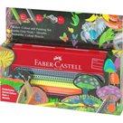 Dárková krabička pastelek Faber-Castell Jumbo Grip - 5ks Neon + 5ks Metallic