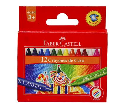 Voskovky Faber-Castell kulaté 12ks