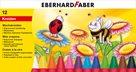 Voskovky Eberhard Faber - trojhranné 12 barev