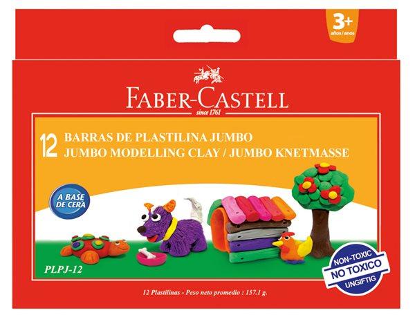 Modelovací hmota Faber-Castell Jumbo, 12ks/barev