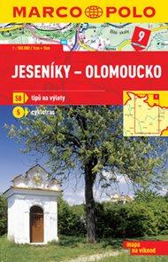 Jeseníky - Olomoucko - mapa 1:100 000 + průvodce na víkend