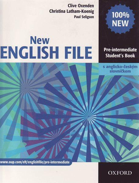 New English File pre-intermediate Students Book + anglicko-český slovníček - Oxenden C., Latham-Koenig Ch., Seligson - A4, brožovaná