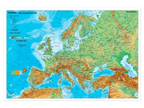 Evropa Fyzicka Politicka Mapa A3 Sevt Cz