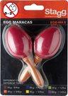 Maracas vajíčka s rukojetí - červené