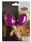 Maracas vajíčka s rukojetí - purpurové
