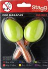 Maracas vajíčka s rukojetí - zelené
