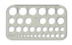 Šablona kružnicová - kouřová - 749161
