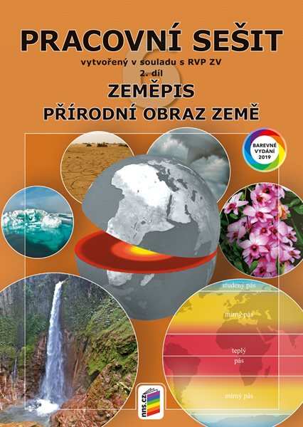 Zeměpis 6. r. ZŠ 2. díl - Pracovní sešit (barevný) - Novák S., Weinhöfer M. - A4