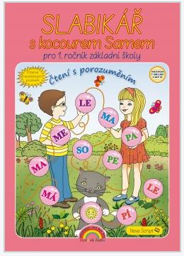 Slabikář s kocourem Samem, Čtení s porozuměním - Nevázané písmo - L. Andrýsková - A4