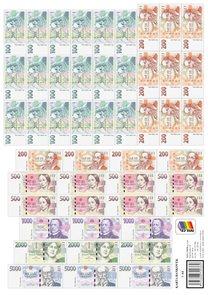 Výuková sada papírových bankovek