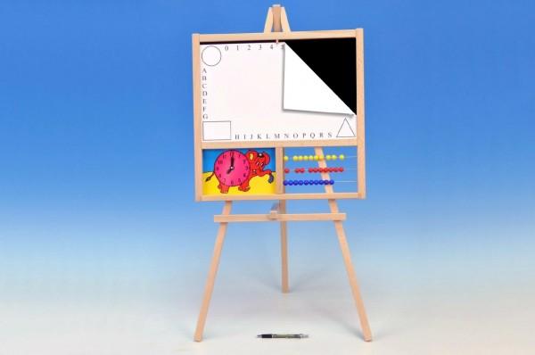 Tabule školní 88x44cm i pro psaní na fólii s počítadlem a hodinami