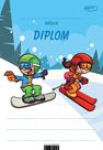 Diplom A5 Lyžařka a snowboardista