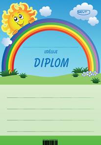 Diplom A5 Slunce s duhou