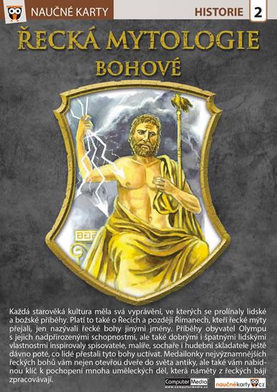 Naučné karty Řecká mytologie - neuveden - 15x21 cm