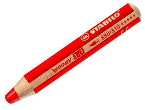 STABILO woody 3 in 1 - červená