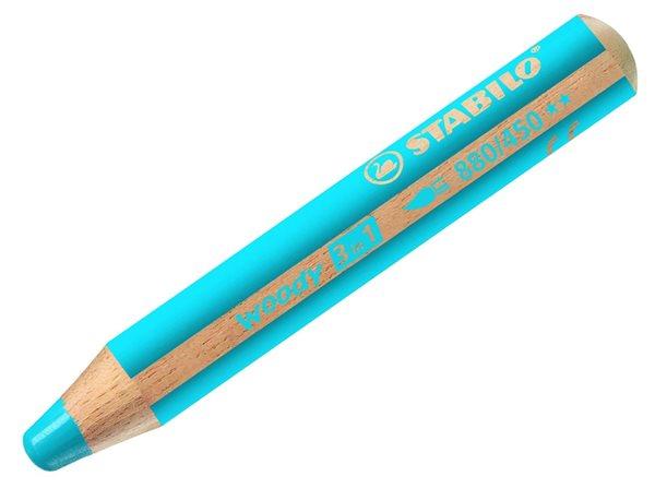 STABILO Woody 3 in 1 - azurová modrá