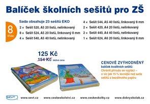Balíček školních sešitů EKO pro 8. třídu ZŠ