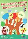 Blok barevných papírů A4 130g -  20 listů