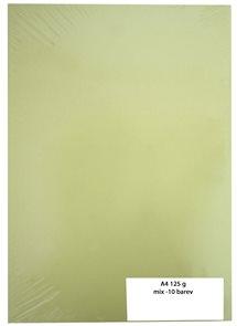Kreslicí karton barevný A4 125 g - mix 10 barev