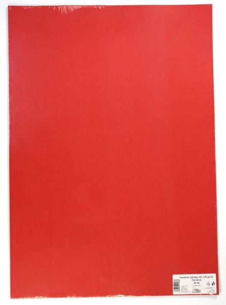 Barevné výkresy A2 125 g - 20 ks - červená