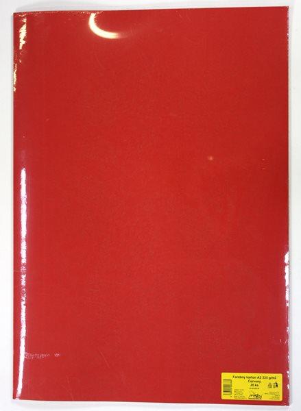 Barevné výkresy A2 225 g - 20 ks - červená