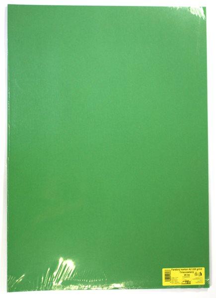 Barevné výkresy A2 225 g - 20 ks - tm. zelená