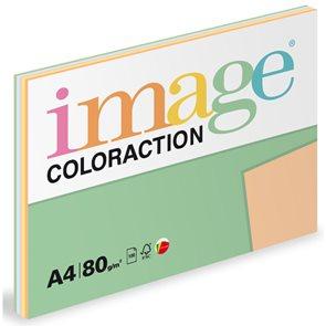 Coloraction A4 80g 5x20ks - mix pastelové (žlutá, zelená, modrá, růžová, meruňková)