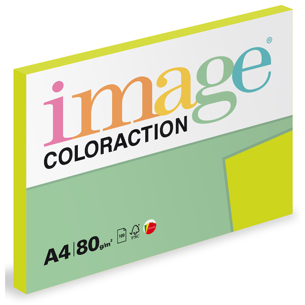 Coloraction A4 80 g - Reflexní zelená 100ks
