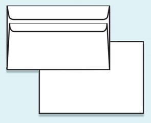 Obálka C6 samolepící s krycí páskou, bez okénka