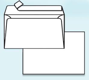 Obálka C5 samolepicí s krycí páskou, bez okénka