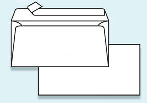 Obálka DL samolepicí s krycí páskou, bez okénka
