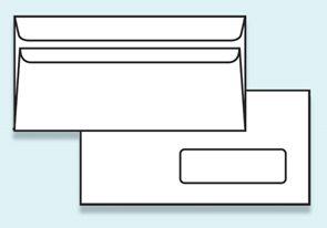 Obálka DL samolepící, s okénkem