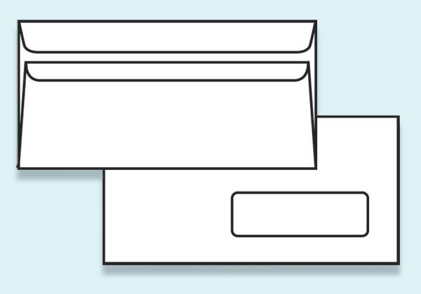 Obálka DL samolepící, s okénkem - DL