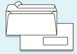 Obálka DL samolepící s krycí páskou - s okénkem