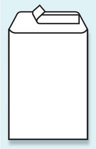 Taška B4 - samolepící s krycí páskou, recyklovaný papír